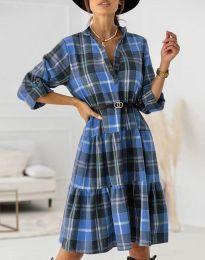 Φόρεμα - κώδ. 6842 - γαλάζιο
