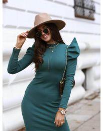 Φόρεμα - κώδ. 1504 - 2 - σκούρο πράσινο
