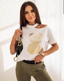 Κοντομάνικο μπλουζάκι - κώδ. 11711 - λευκό