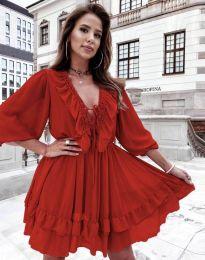 Φόρεμα - κώδ. 5648 - κόκκινο