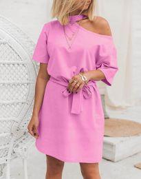 Φόρεμα - κώδ. 5848 - 4 - ροζ