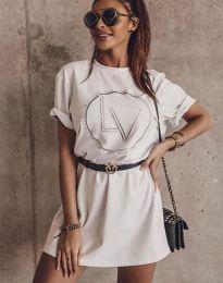 Φόρεμα - κώδ. 8205 - λευκό