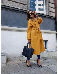 Παλτό - κώδ. 9099 - κίτρινο