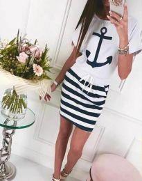 Φόρεμα - κώδ. 7369 - 1 - λευκό