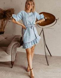 Φόρεμα - κώδ. 1350 - 1 - γαλάζιο
