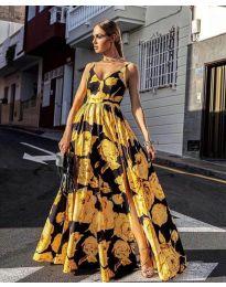 Φόρεμα - κώδ. 5520 - κίτρινο