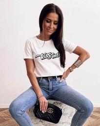 Κοντομάνικο μπλουζάκι - κώδ. 2267 - λευκό