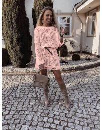 Φόρεμα - κώδ. 6208 - ροζ