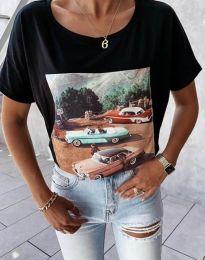 Κοντομάνικο μπλουζάκι - κώδ. 2460 - μαύρο