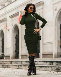 Φόρεμα - κώδ. 7099 - 7 - σκούρο πράσινο