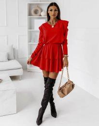 Φόρεμα - κώδ. 12042 - κόκκινο