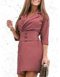 Φόρεμα - κώδ. 1356 - πούδρα