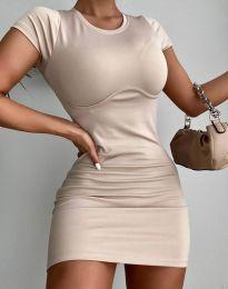 Φόρεμα - κώδ. 12833 - μπεζ