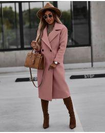 Παλτό - κώδ. 9493 - ροζ