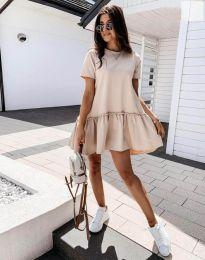 Φόρεμα - κώδ. 11890 - μπεζ