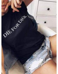 Κοντομάνικο μπλουζάκι - κώδ. 406 - 2 - μαύρο