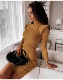 Φόρεμα - κώδ. 8484 - μουσταρδί
