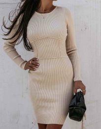 Φόρεμα - κώδ. 0891 - μπεζ