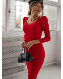 Φόρεμα - κώδ. 11548 - κόκκινο