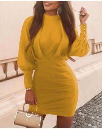 Φόρεμα - κώδ. 4016 - μουσταρδί