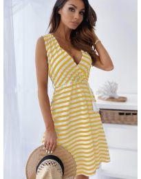 Φόρεμα - κώδ. 6629 - κίτρινο