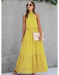 Φόρεμα - κώδ. 8855 - κίτρινο
