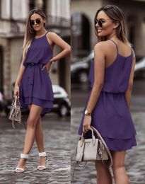 Φόρεμα - κώδ. 2104 - σκούρο μωβ