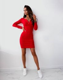 Φόρεμα - κώδ. 1610 - κόκκινο
