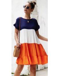 Φόρεμα - κώδ. 741 - πορτοκαλί