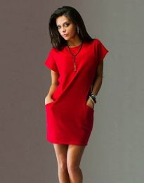 Φόρεμα - κώδ. 1585 - 2 - κόκκινο