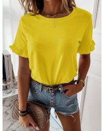 Κοντομάνικο μπλουζάκι - κώδ. 068 - κίτρινο