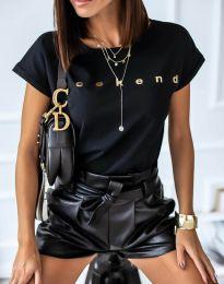 Κοντομάνικο μπλουζάκι - κώδ. 4318 - μαύρο