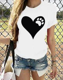Κοντομάνικο μπλουζάκι - κώδ. 3204 - 2 - λευκό