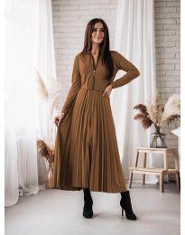 Φόρεμα - κώδ. 1544 - καφέ