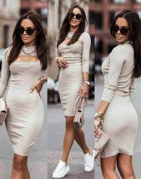 Φόρεμα - κώδ. 7376 - 3 - μπεζ