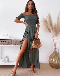 Φόρεμα - κώδ. 11920 - σκούρο γκρι