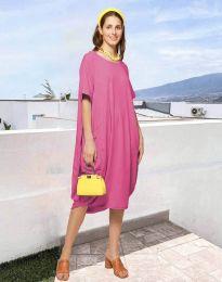 Φόρεμα - κώδ. 5554 - ροζ