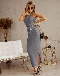 Φόρεμα - κώδ. 6166 - γκρι