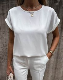 Κοντομάνικο μπλουζάκι - κώδ. 11802 - λευκό