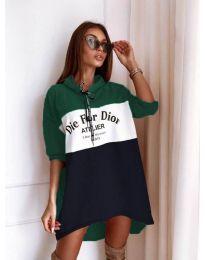 Φόρεμα - κώδ. 9090-9 - πολύχρωμο