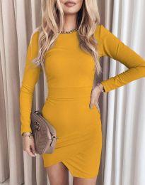 Φόρεμα - κώδ. 2835 - μουσταρδί
