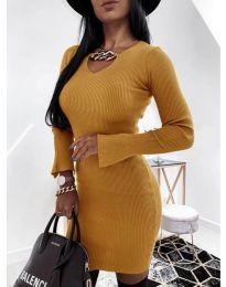 Φόρεμα - κώδ. 5666 - μουσταρδί