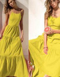 Φόρεμα - κώδ. 2991 - κίτρινο