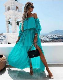 Φόρεμα - κώδ. 6624 - 1 - τυρκουάζ