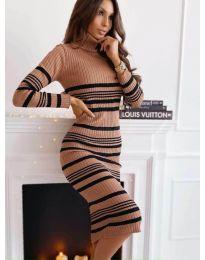 Φόρεμα - κώδ. 5980 - 4 - πολύχρωμο