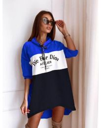 Φόρεμα - κώδ. 9090-8 - πολύχρωμο