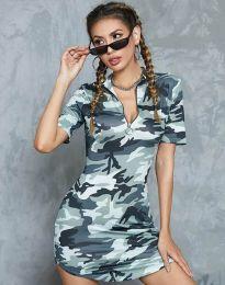 Φόρεμα - κώδ. 1540 - 2 - στρατιωτικό