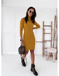 Φόρεμα - κώδ. 5696 - μουσταρδί