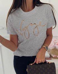 Дамска тениска в светлосиво - код 3350