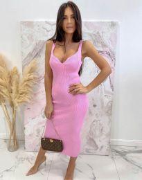 Φόρεμα - κώδ. 10033 - ροζ